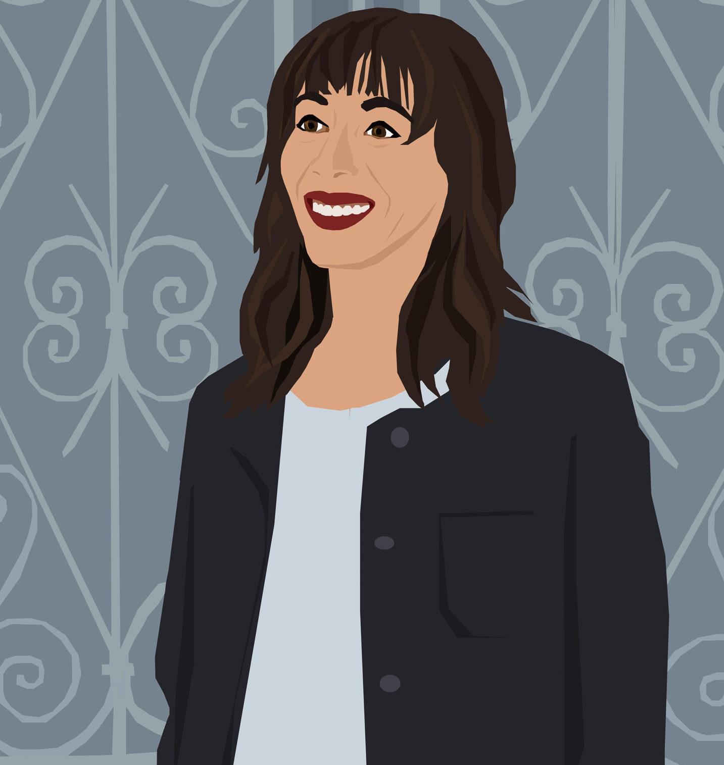 Portrait by the graphic artist Karina Mansfield. December 2019