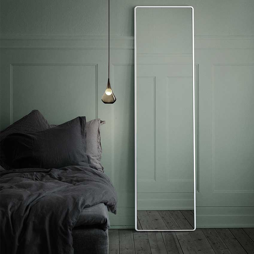 The perfect bedroom mirror from Vipp, yes, the bin people!