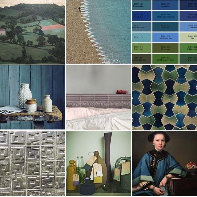 Teal @michelleogundehin Instagram moodboard