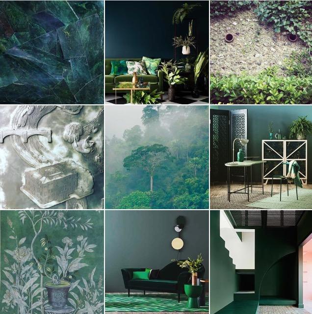 Green @michelleogundehin Instagram moodboard