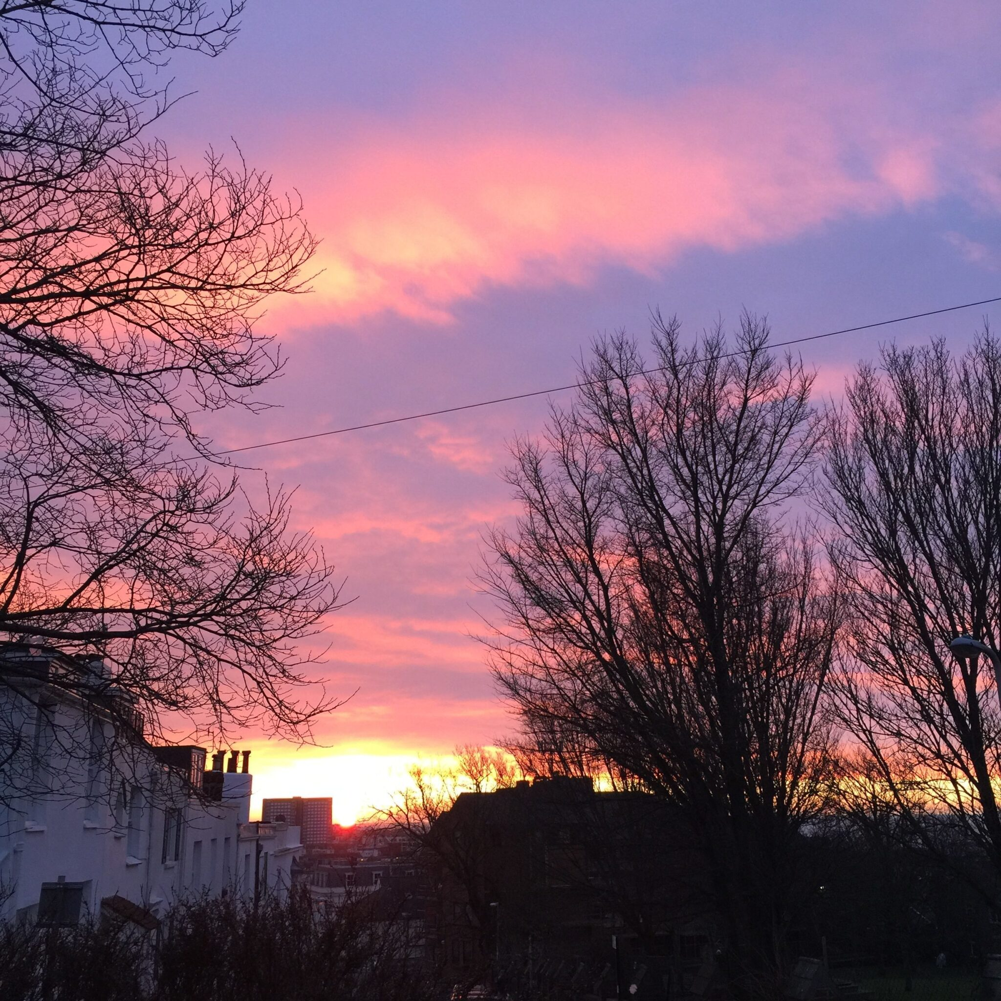 Good morning Brighton! A glorious pink sky. Captured just before 7am. Photograph by Michelle Ogundehin