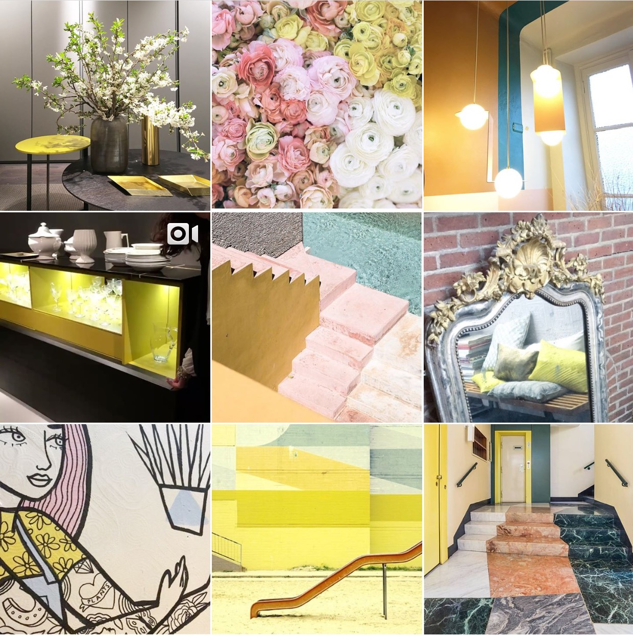 'Spring' Instagram moodboard via @michelleogundehin