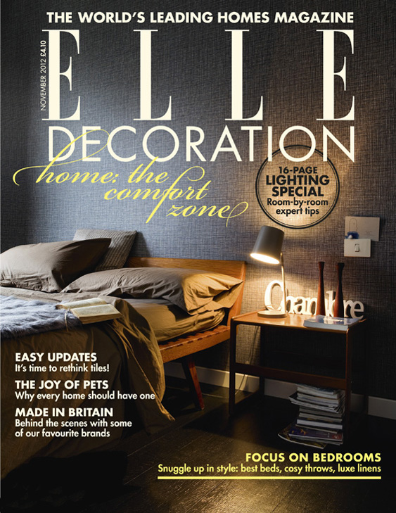 ELLE Decoration cover November 2012