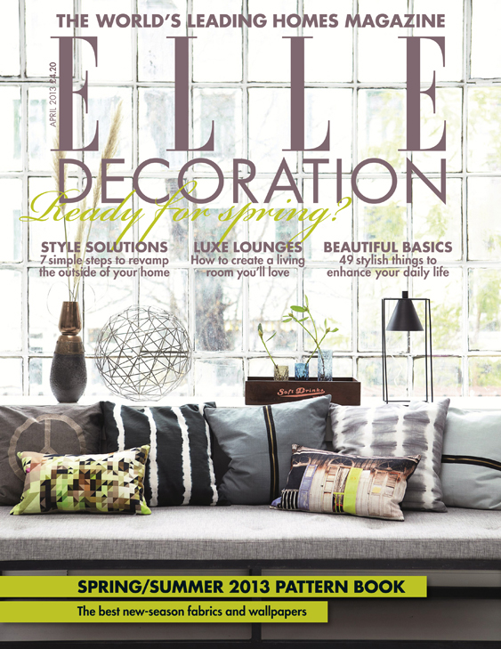 ELLE Decoration cover April 2013