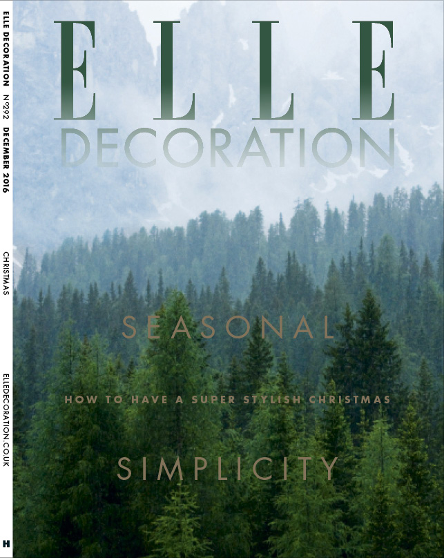 ELLE Decoration Subscriber cover December 2016