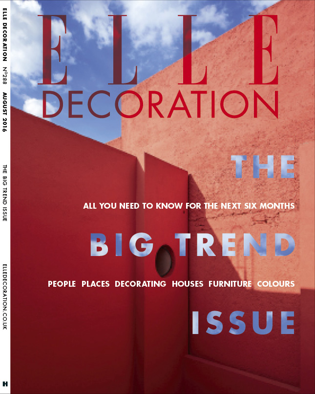 ELLE Decoration 'Trend Issue' Subscriber cover August 2016