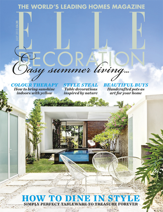 ELLE Decoration cover July 2013
