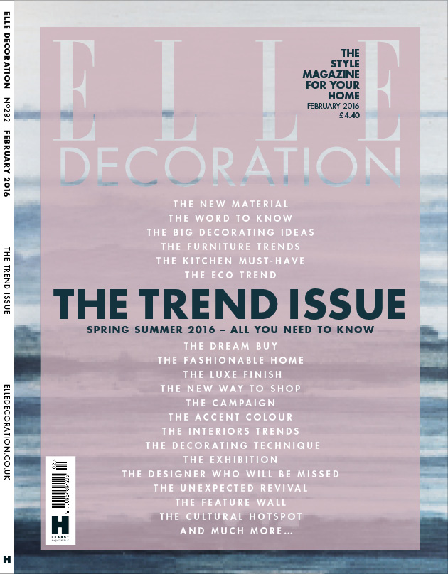 ELLE Decoration 'Trends' cover February 2016