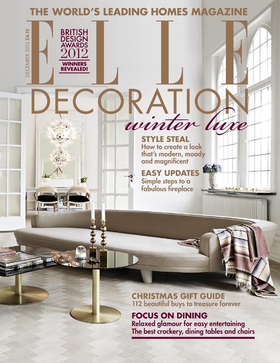 ELLE Decoration cover December 2012