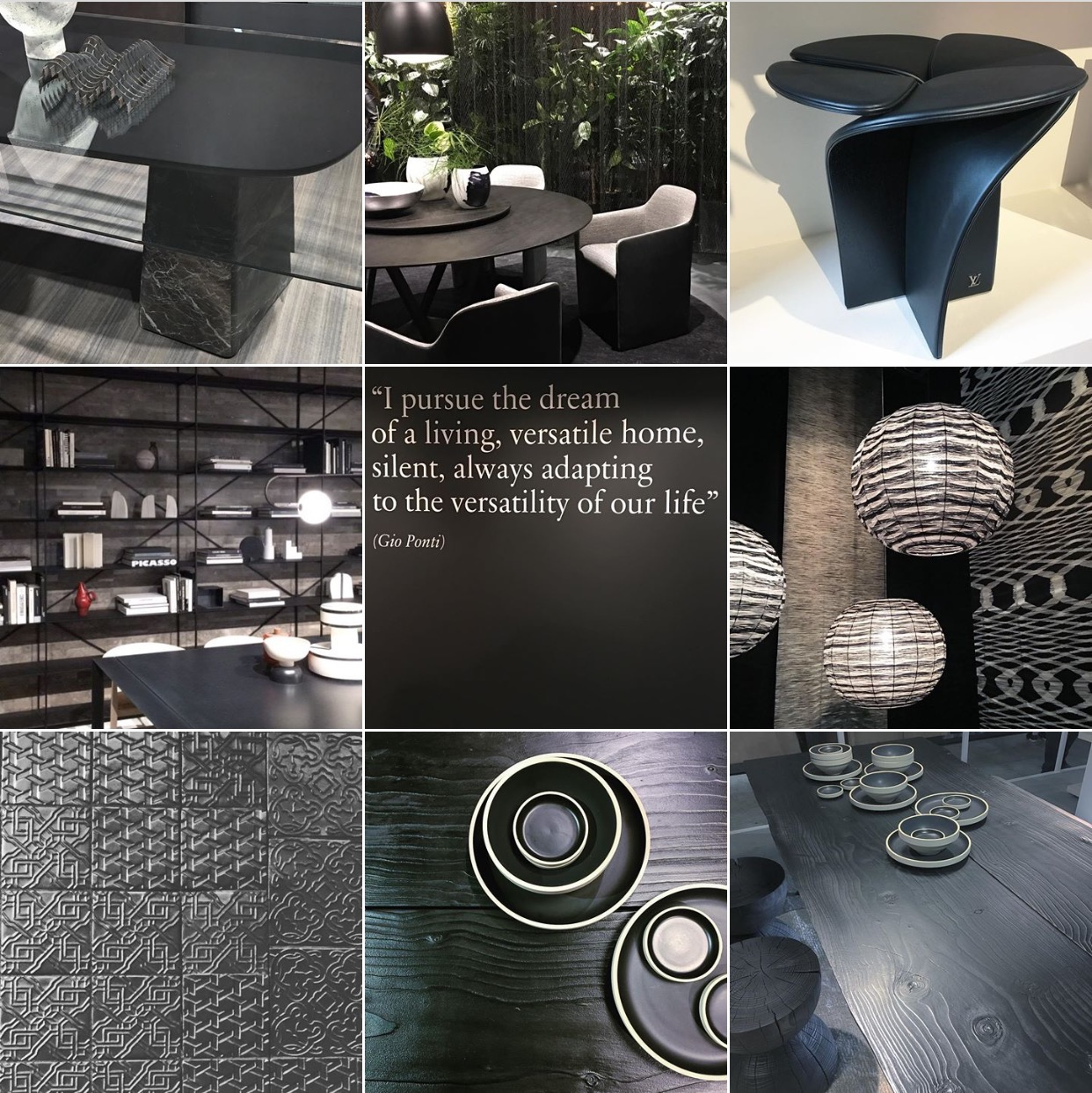 Modern Black moodboard via @michelleogundehin Instagram