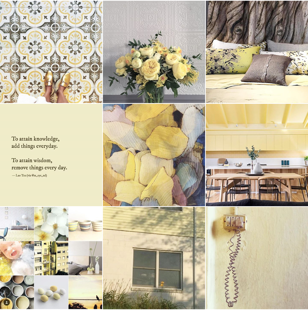 Lemon yellow @michelleogundehin moodboard