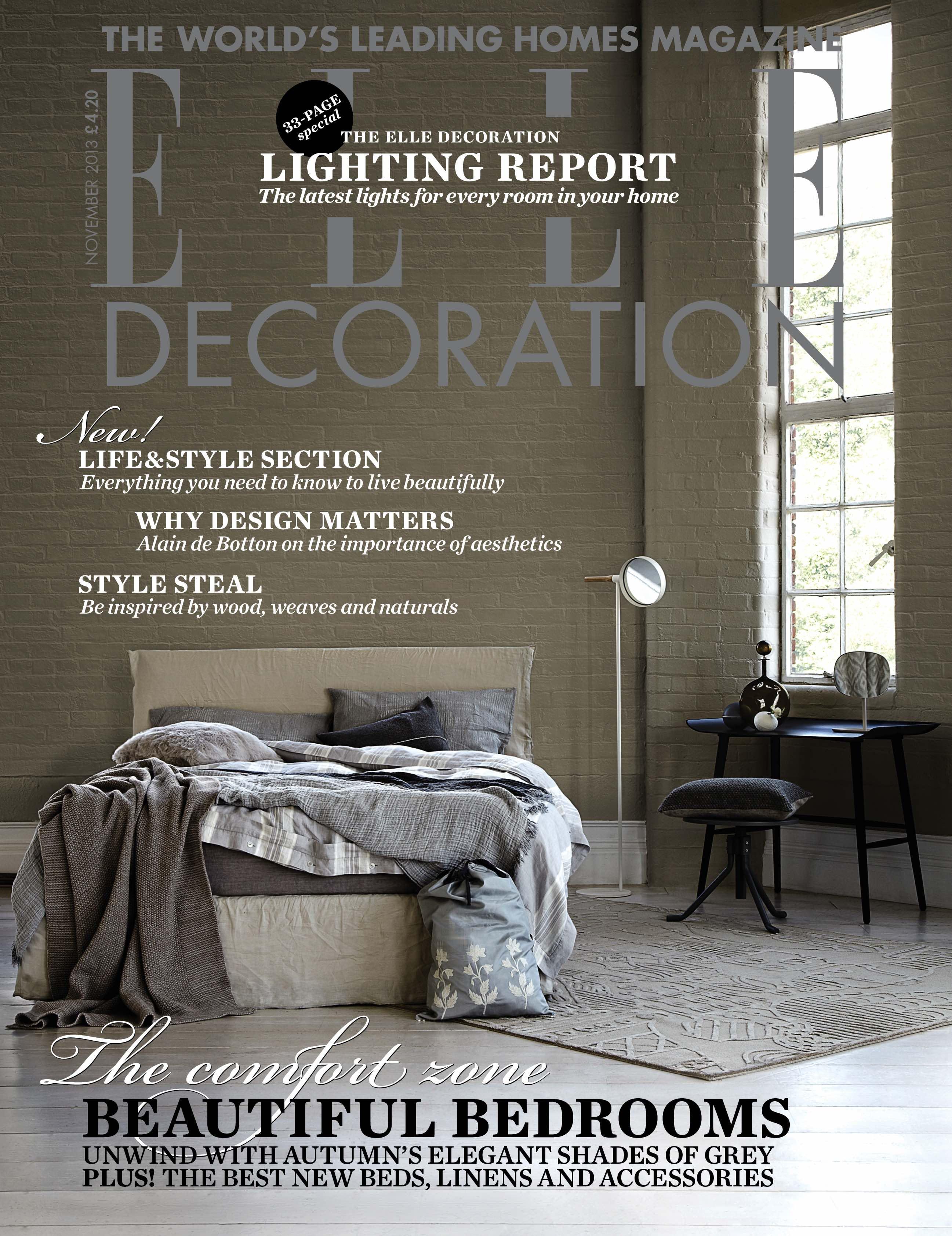 ELLE Decoration cover November 2013