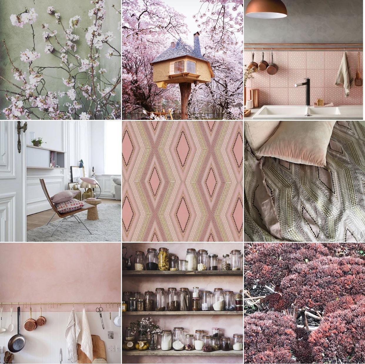 Powder pink: @michelleogundehin Instagram moodboard