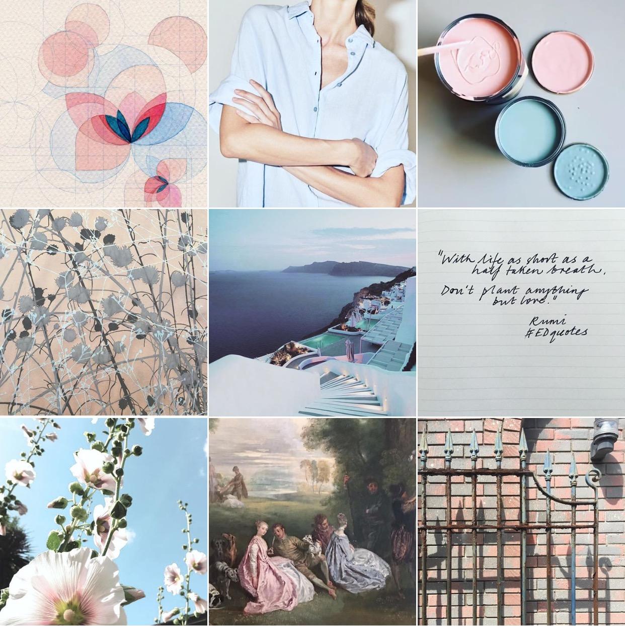 Pale blue: @michelleogundehin Instagram moodboard