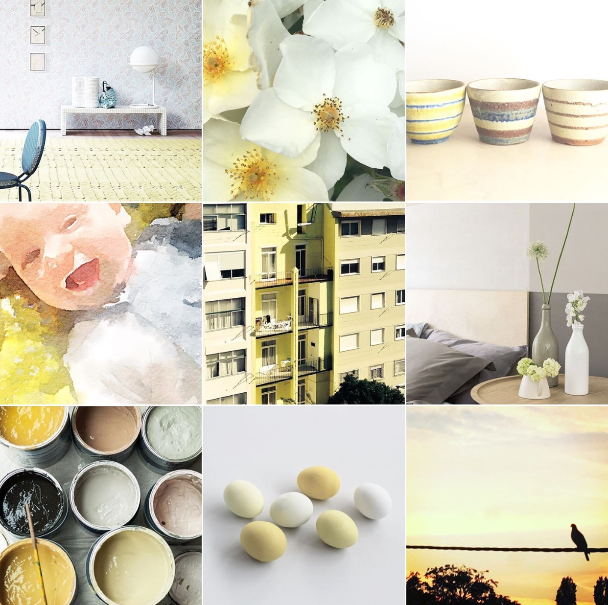 Lemon yellow: @michelleogundehin Instagram moodboard