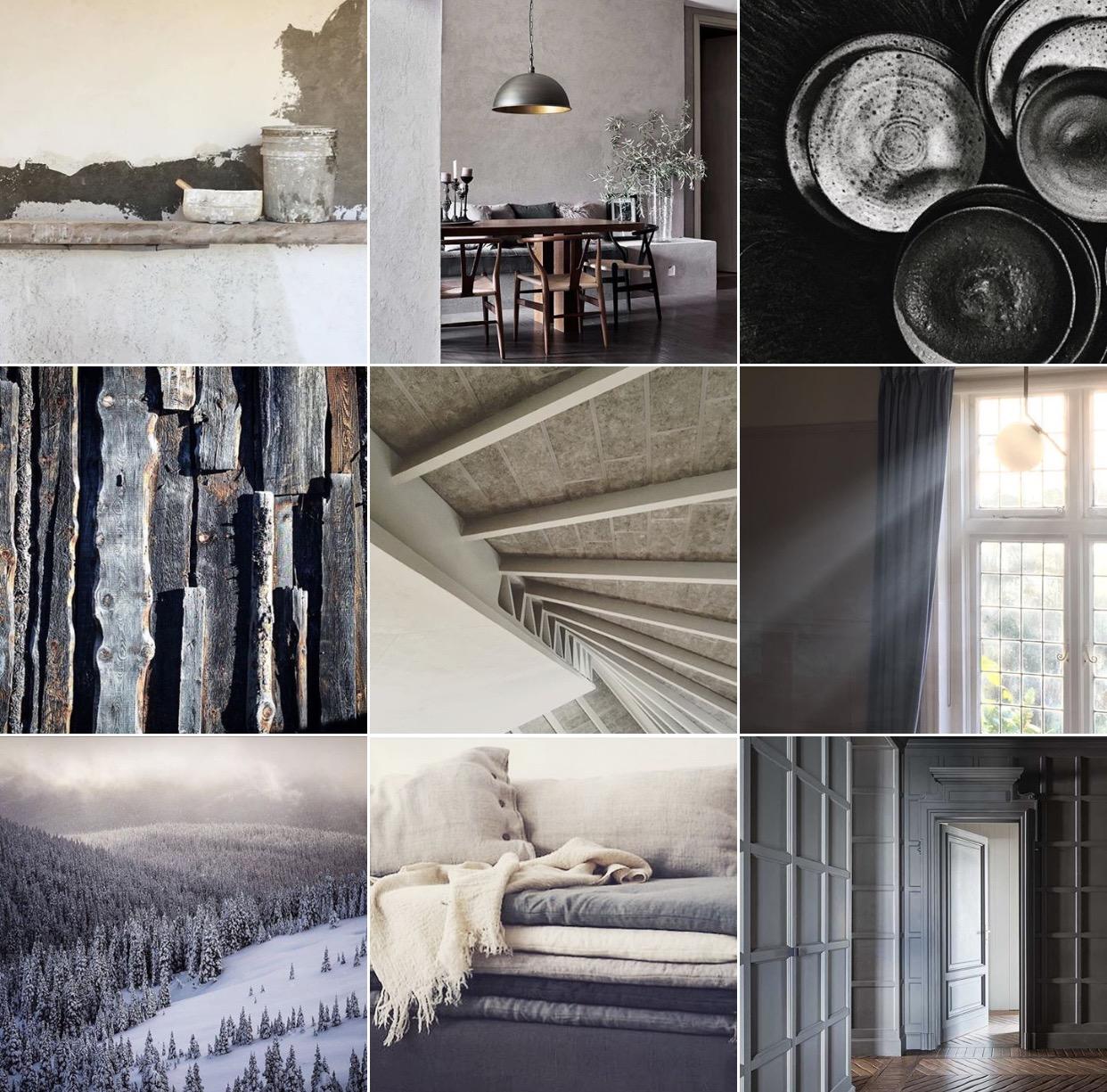 Dove grey: @michelleogundehin Instagram moodboard