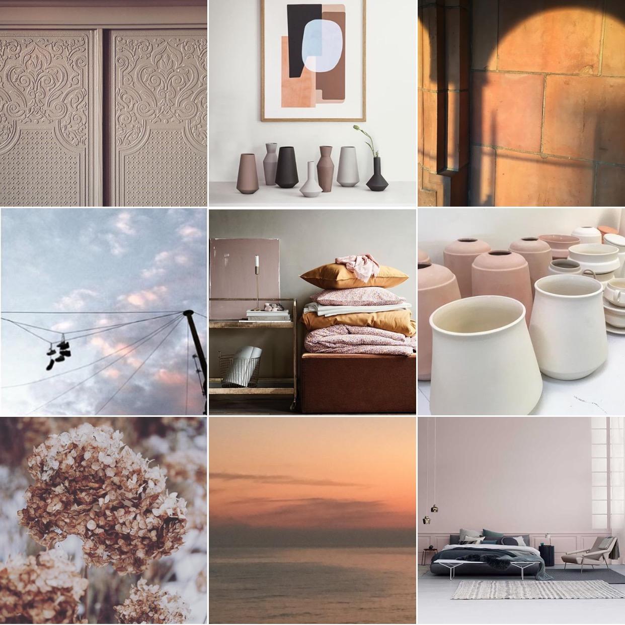 Terracotta moodboard via @michelleogundehin Instagram