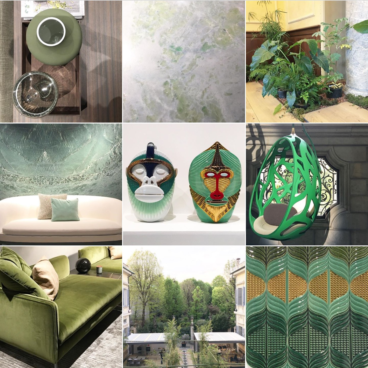 Greenery Trend moodboard via @michelleogundehin Instagram