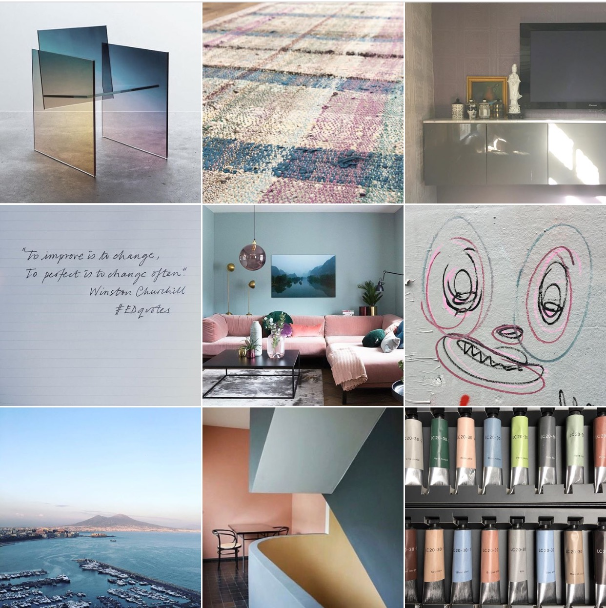 Corbusier colours moodboard via @michelleogundehin Instagram