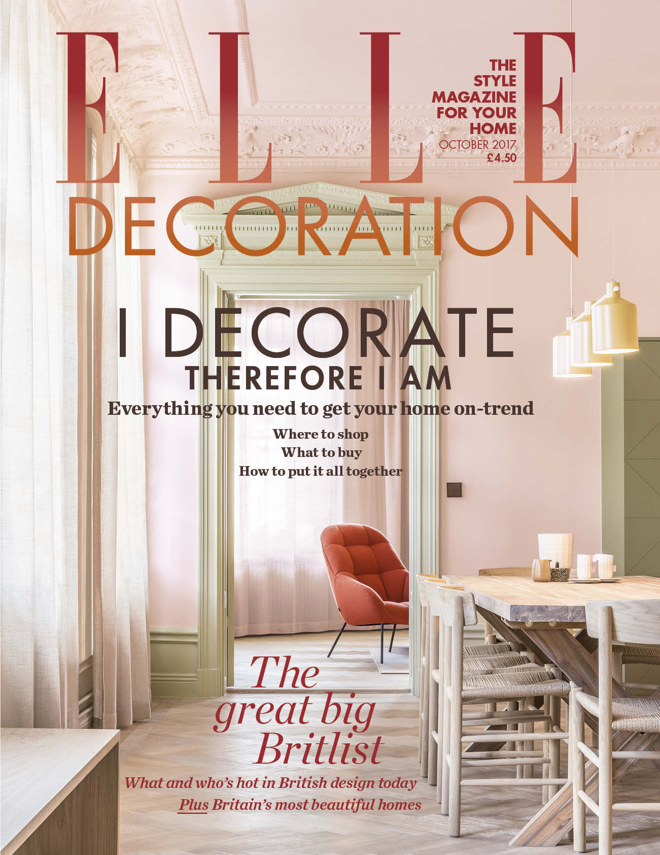 ELLE Decoration October cover 2017