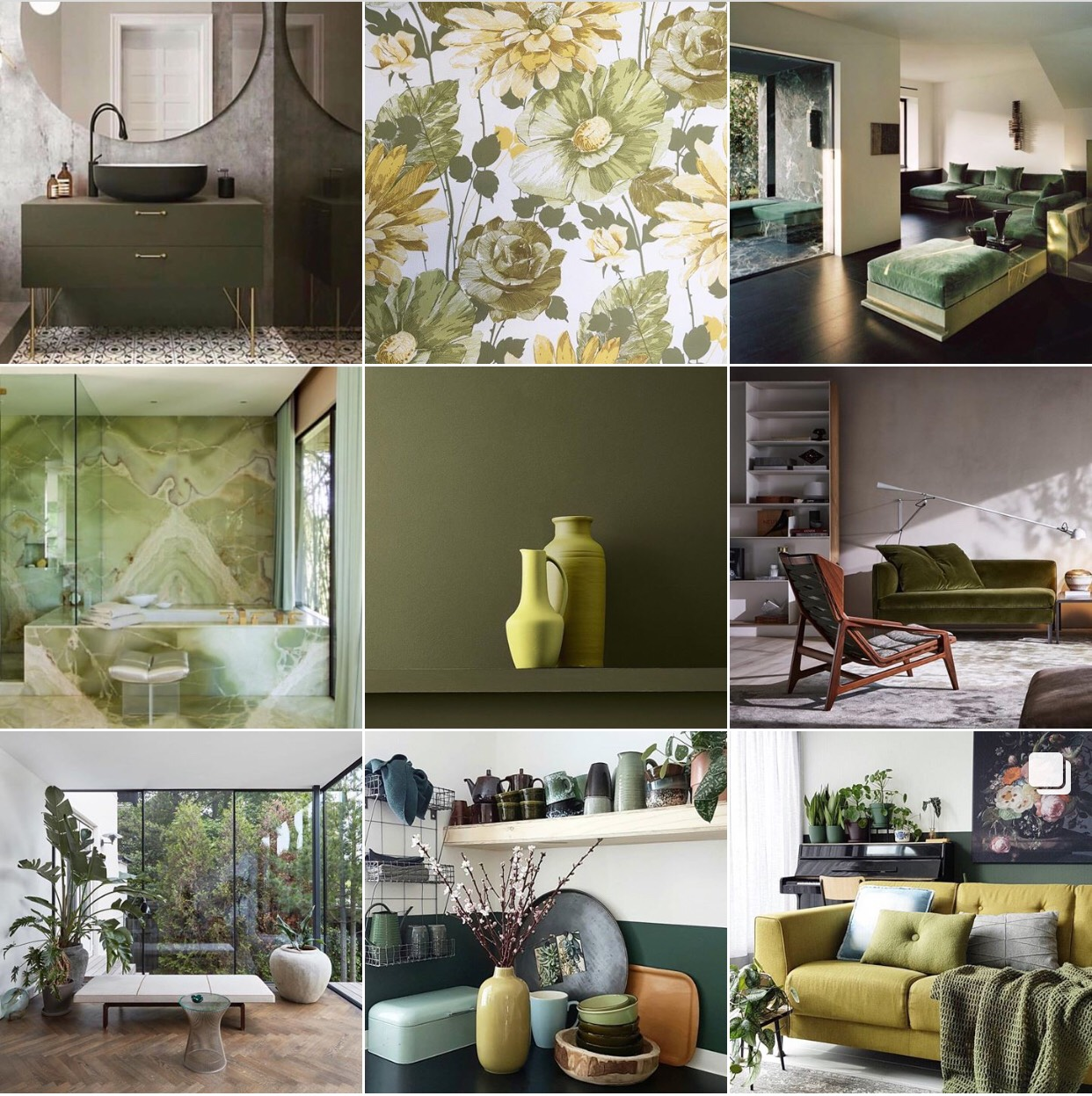 Colour olive green michelle ogundehin for Olive green accessories living room
