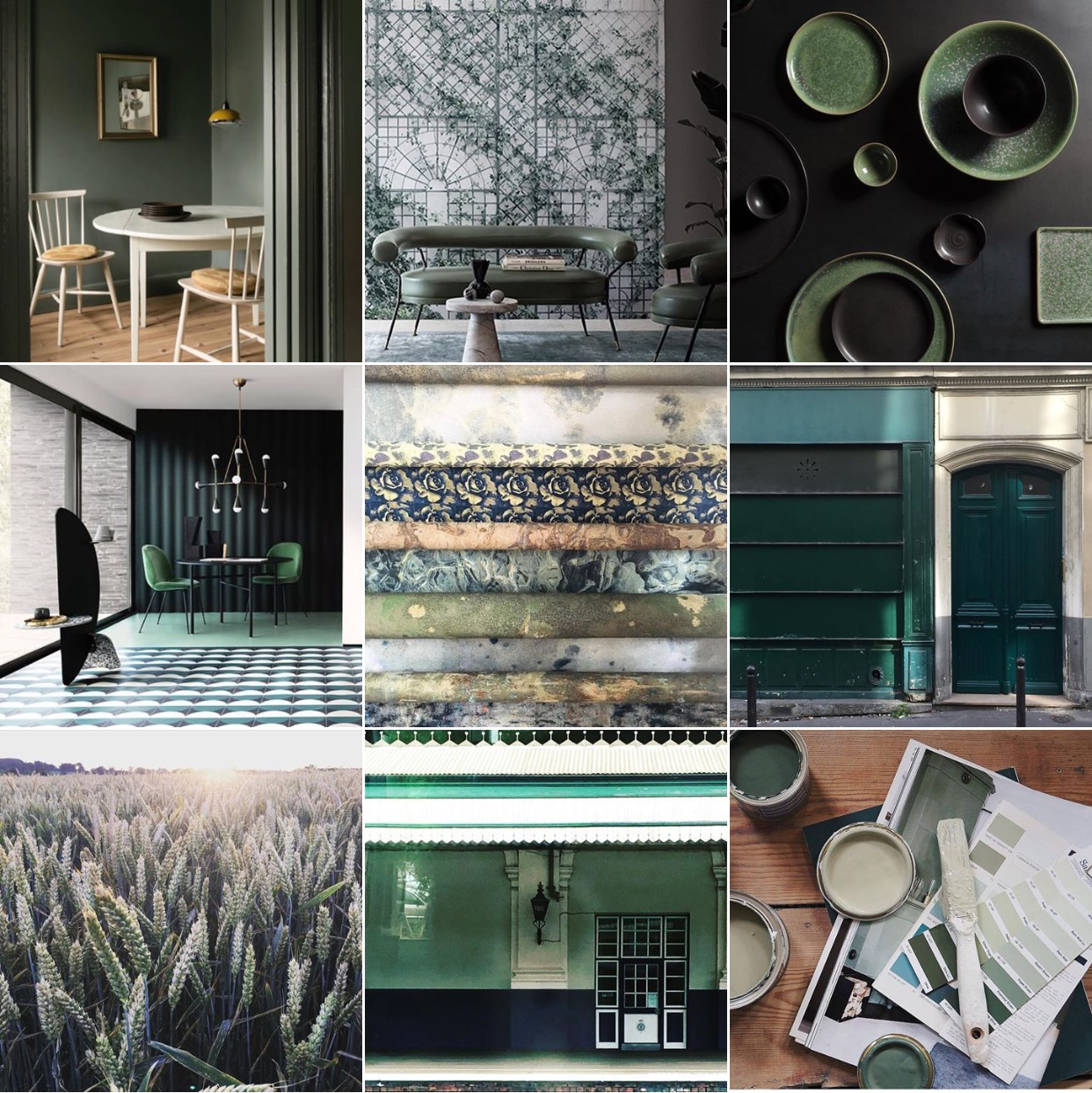 Olivegreen Instagram Moodboard @michelleogundehin