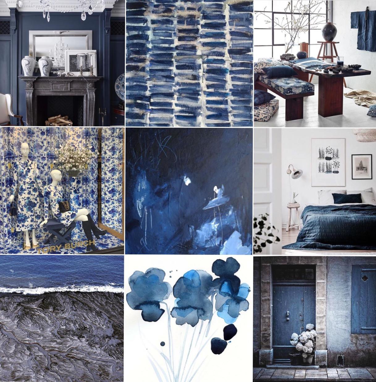 Navy @michelleogundehin Instagram moodboard