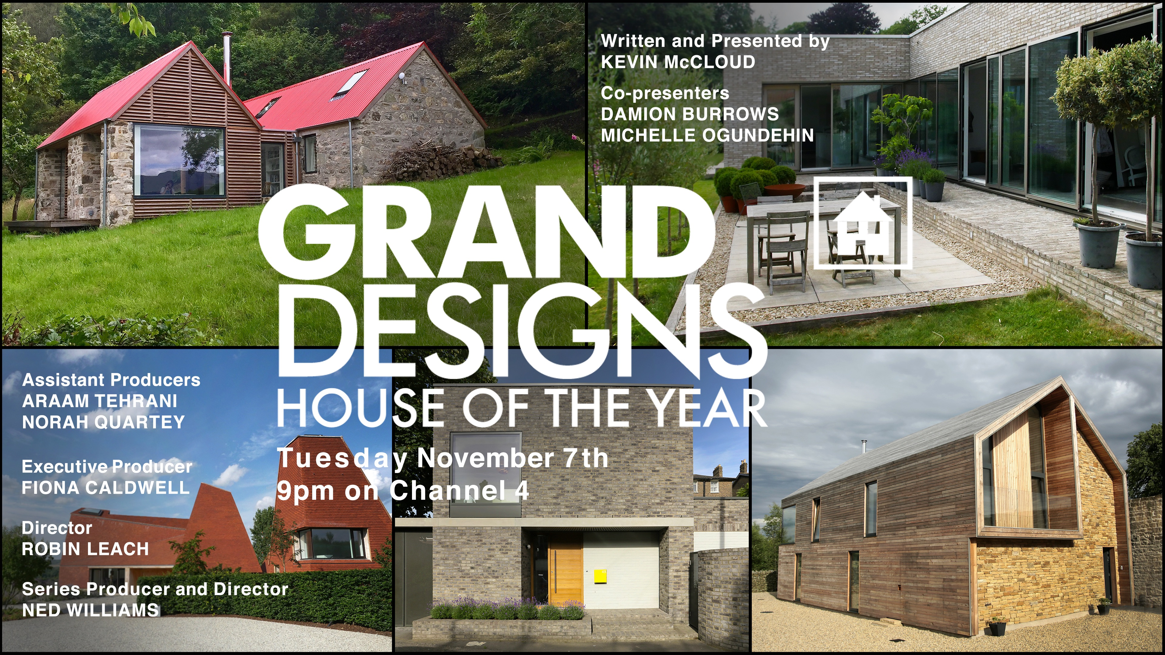 Grand Designs: House of the Year 2017 Transmission card. Produced by Boundless.