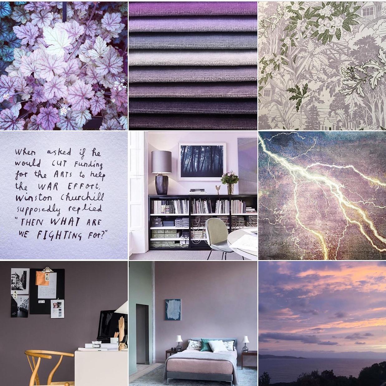 Lavender: @michelleogundehin Instagram moodboard