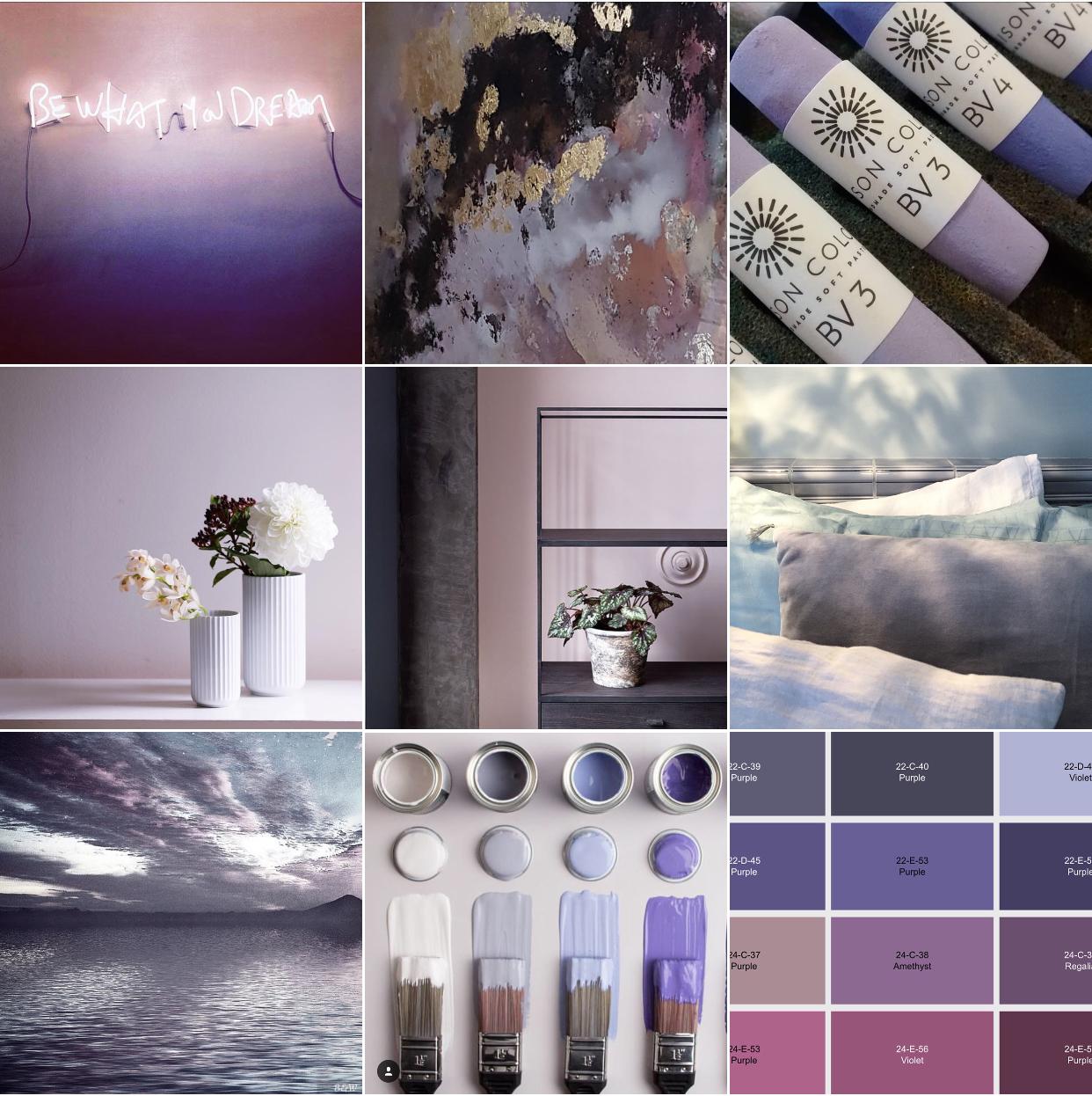 Lavender @michelleogundehin Instagram moodboard