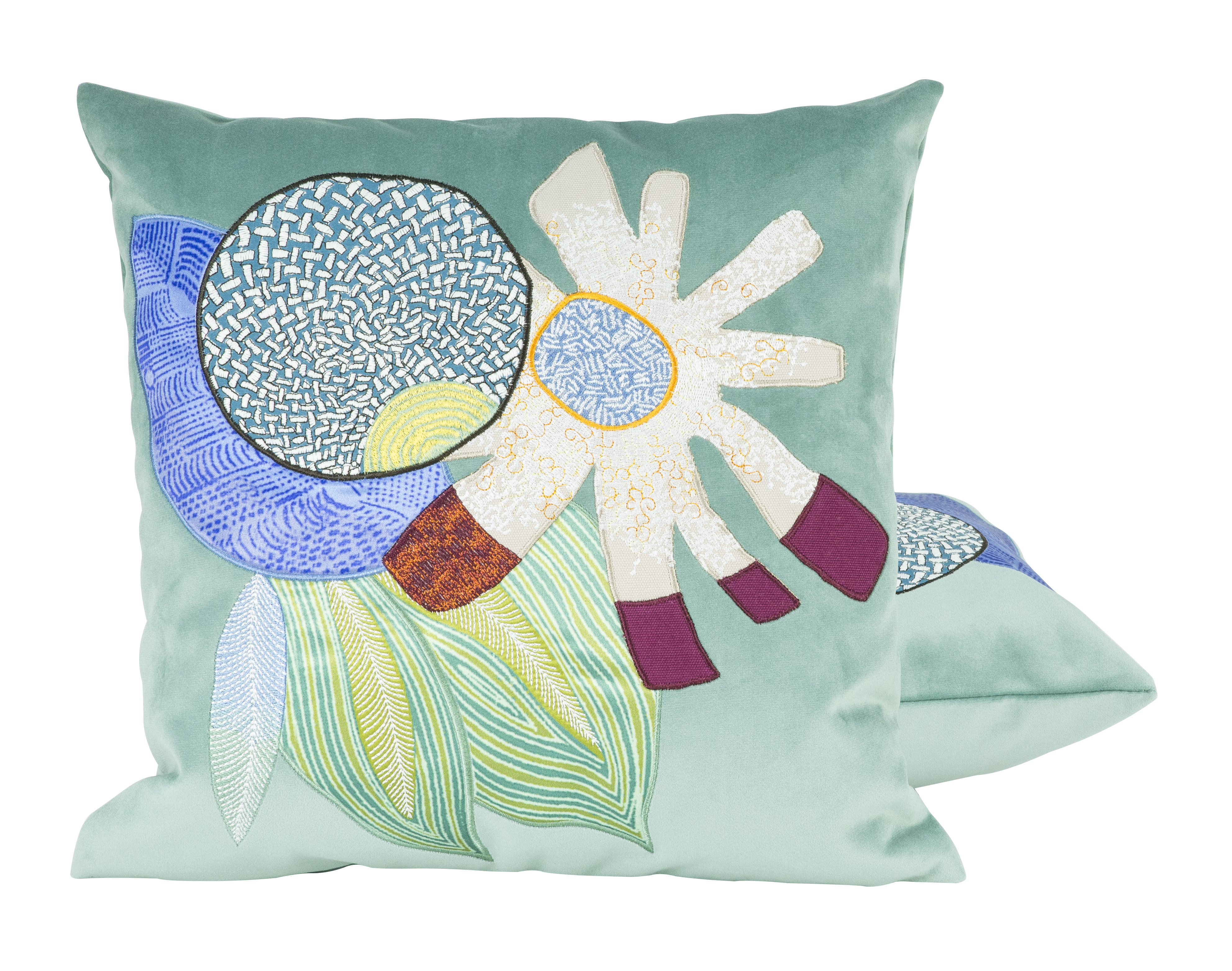 'Libertad' cushion by Lelièvre Paris, from the 'Evasions' collection. 100% Polyester, 40 x 40cm, £95.