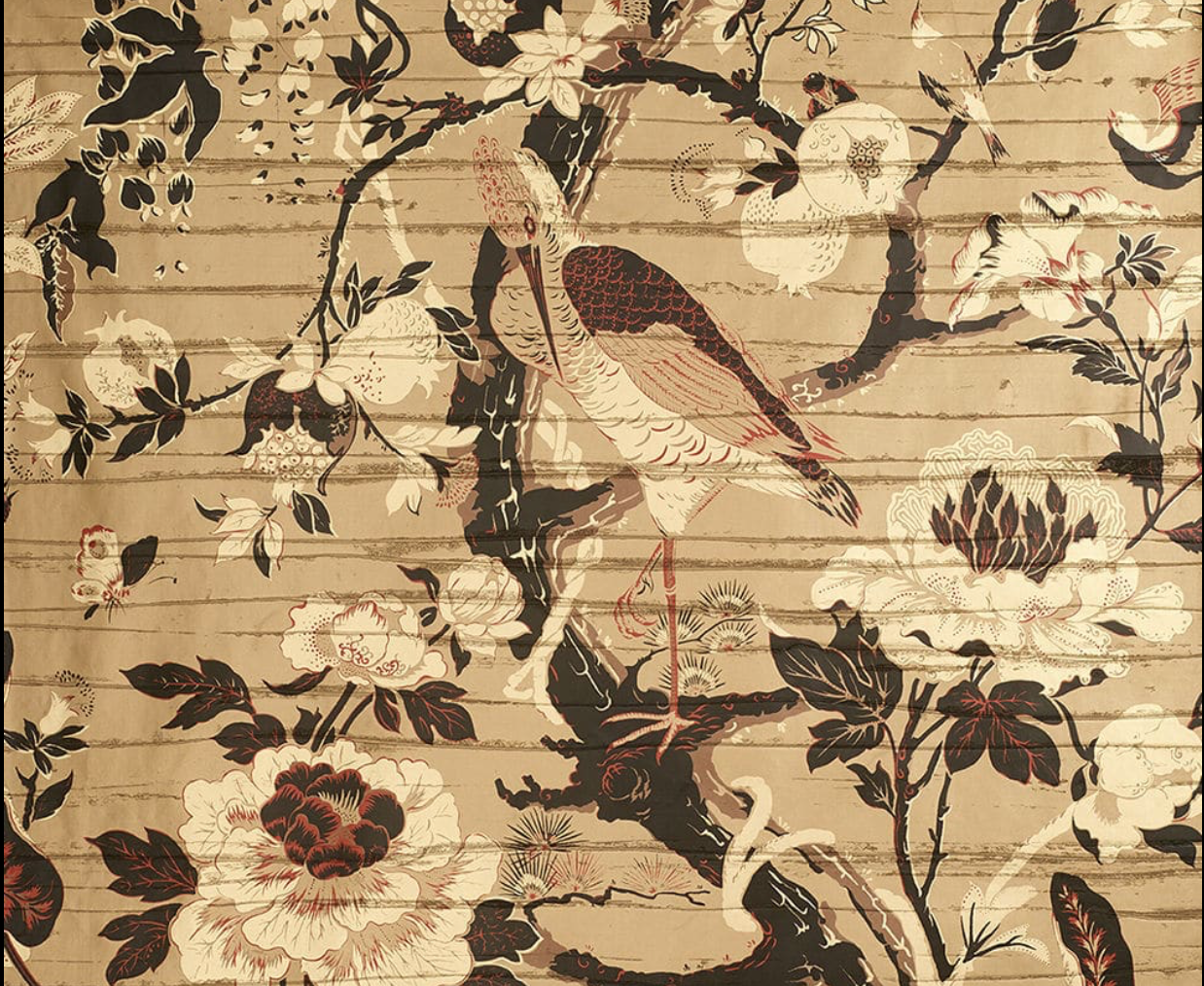 'Silkbird' vinyl wallpaper by Dedar