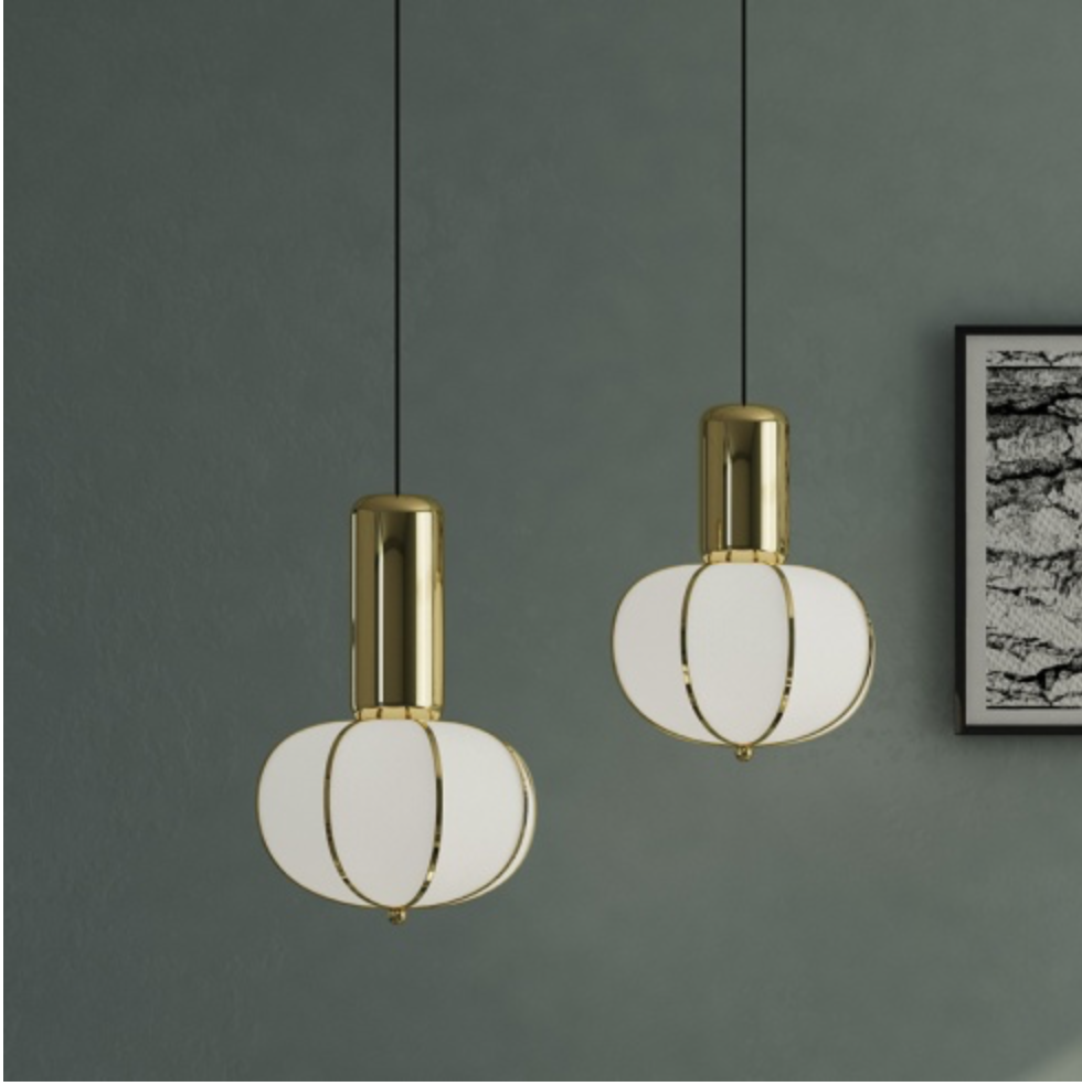 The 'Circus Suspension Lamp' from Amode. £620. Also available in matt black.