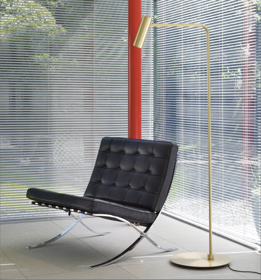 The 'Heron' floor lamp designed by Michael Verheyden for CTO Lighting.