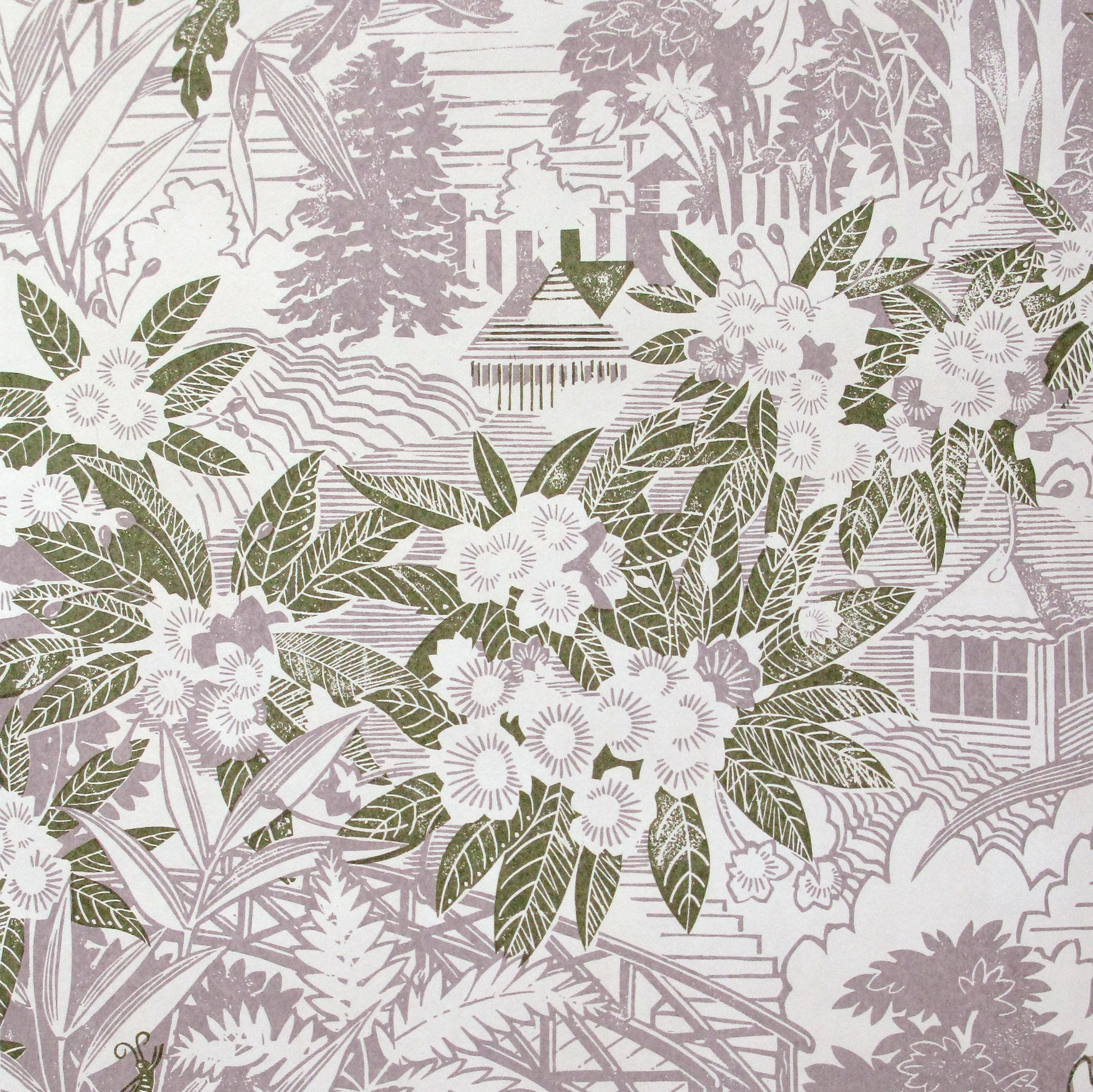 The New Neutrals: ''Webb's Wonder' wallpaper by Rapture & Wright in Lilac Grey. Also available as a fabric, and in six different colour ways.
