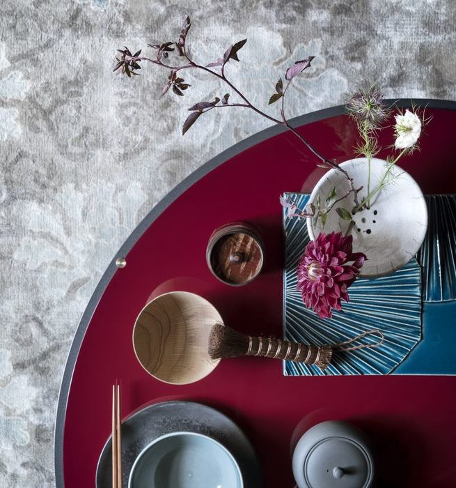 Modern Oriental. Styling: Hannah Bort. Photography: Paul Raeside. Featured in the November issue of ELLE Decoration UK.