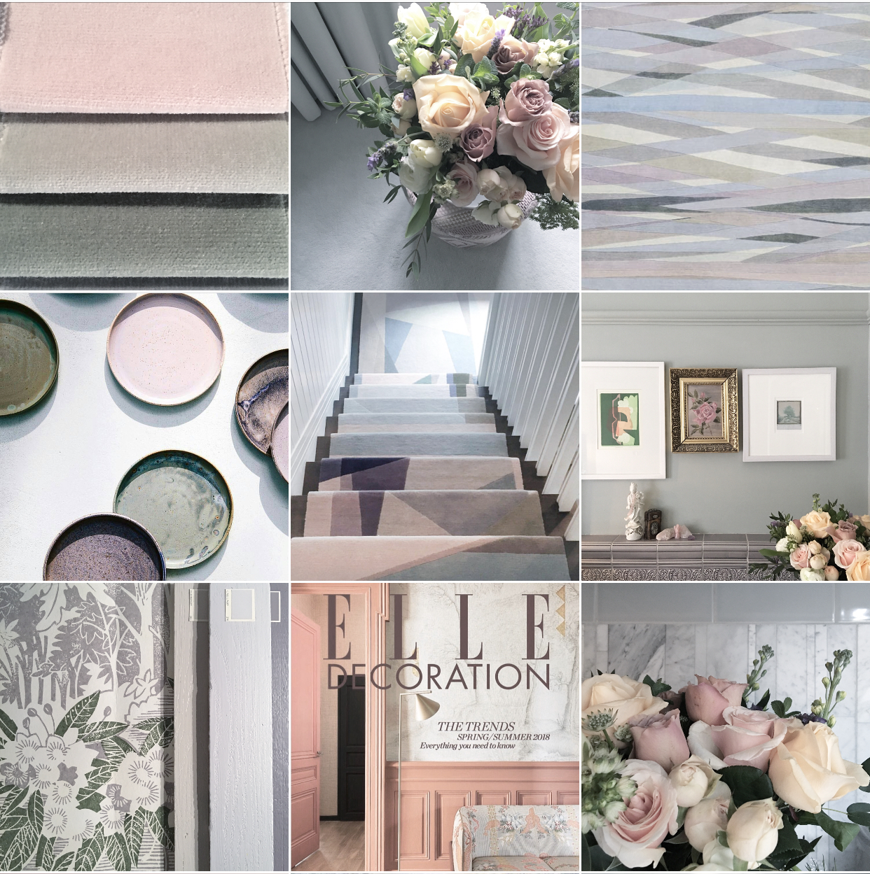 Bye Bye beige'n'white, hello tearose, palest peach, mint and lavender hues. The New Neutrals Insta-colourscape. Follow feed for full captions and credits. All flowers by The Real Flower Company.