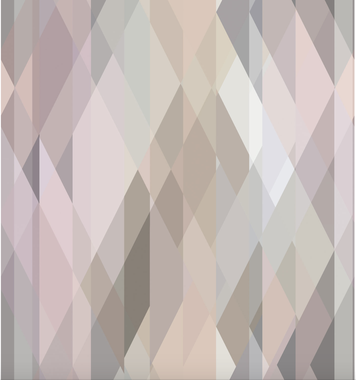The New Neutrals: Cole & Son's classic 'Prism' design updated in an elegantly understated Pastel palette, with shards of alabaster pink, taupe, silvered sage and lilac.