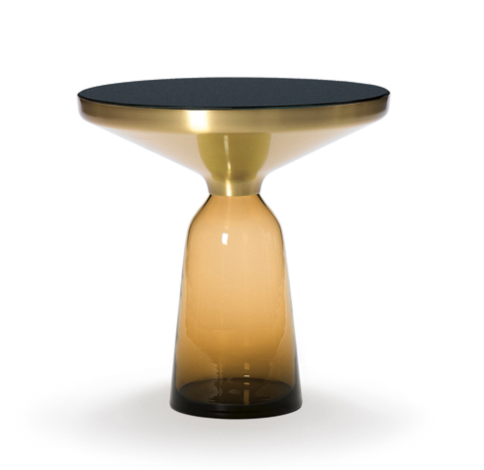Dream Buy: Sebastian Herkner's Bell table for ClassiCon in Amber, with black marble top.