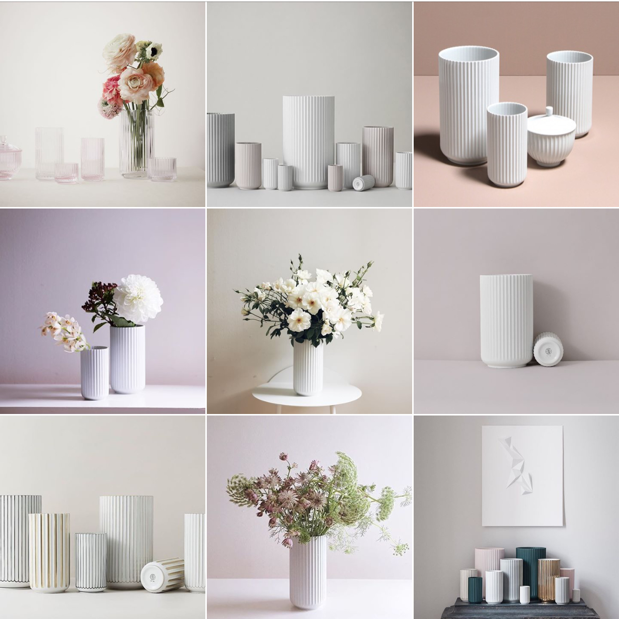 The Lyngby vase: @michelleogundehin Instagram moodboard Photographs by @lyngbyporcelain and @nonihana_