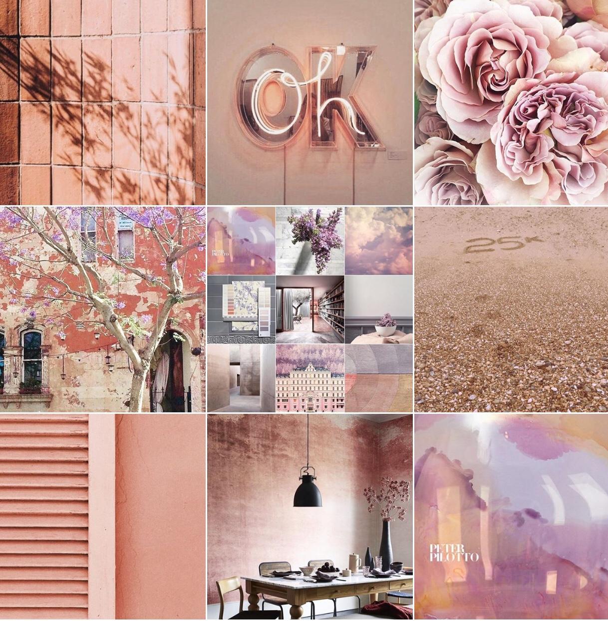 Peach: @michelleogundehin Instagram moodboard
