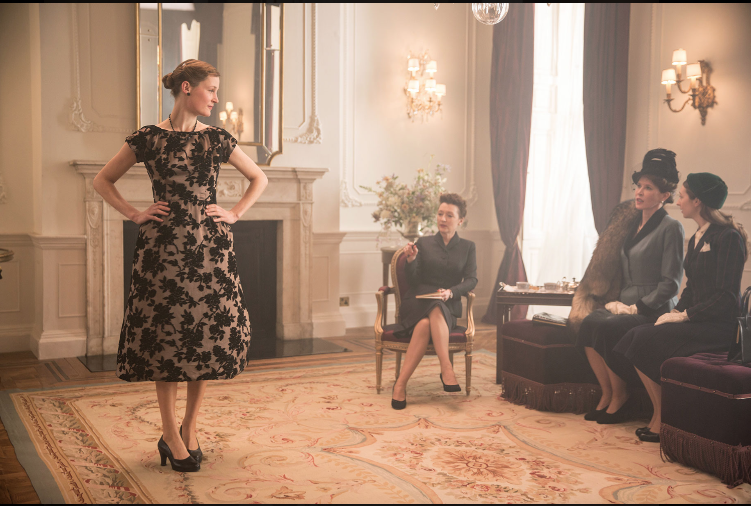 Still from 'Phantom Thread' the film about a fictional 1950s fashion designer directed by Paul Thomas Andersen, and starring Daniel Day Lewis. Image: Focus Features