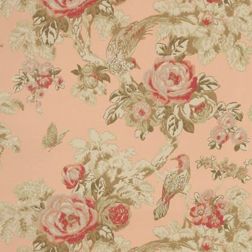 'Bird in the Bush' wallpaper from the Anna French 'Wild Flora' collection.