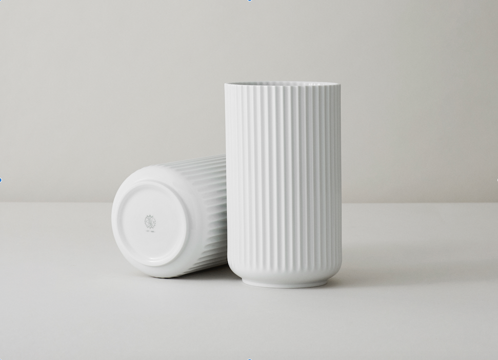 The Lyngby vase in white porcelain
