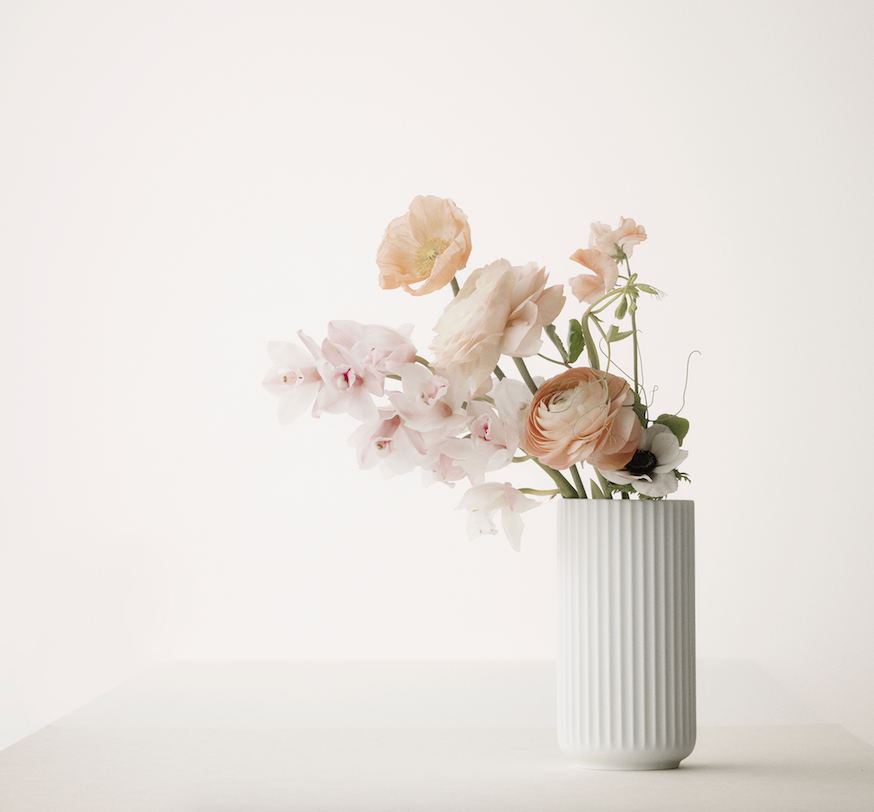 The classic white porcelain Lyngby vase.