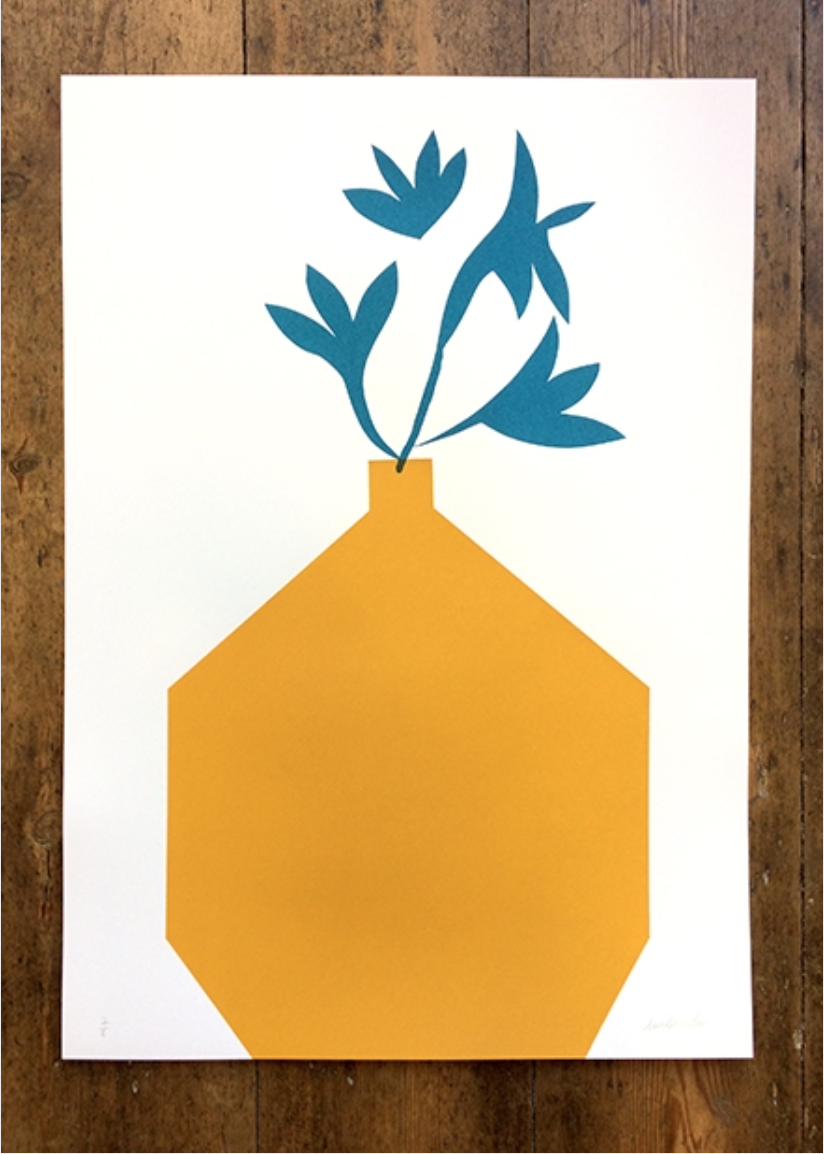 'Yellow vase' print by Lucie Sheridan from Unlimited £65