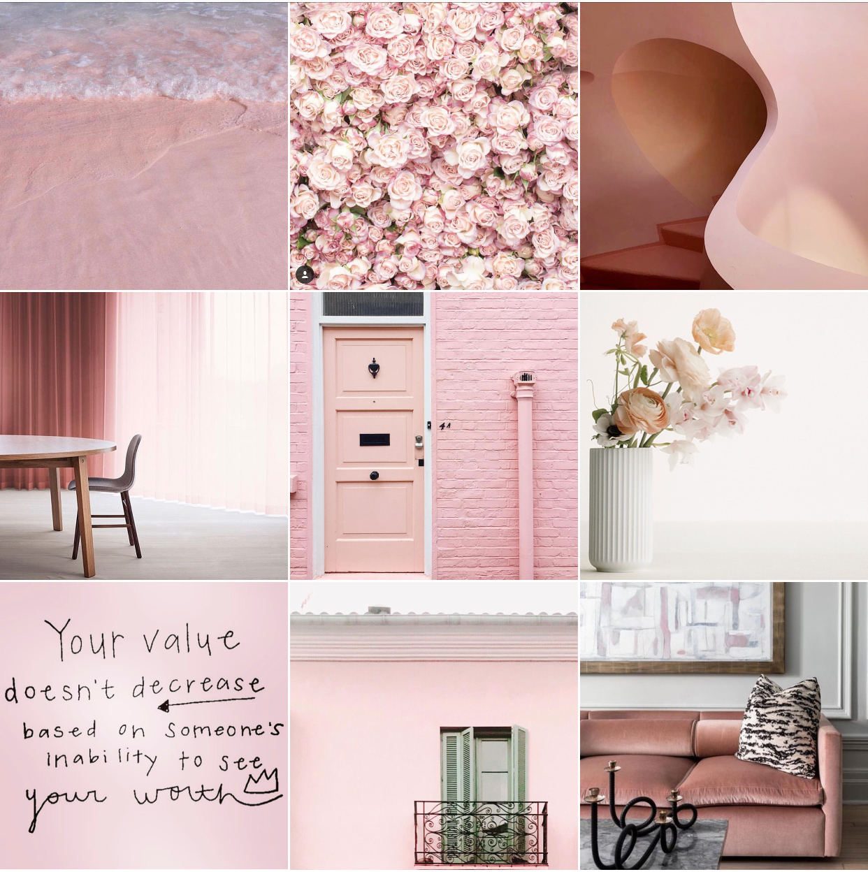 Pink @michelleogundehin Instagram moodboard