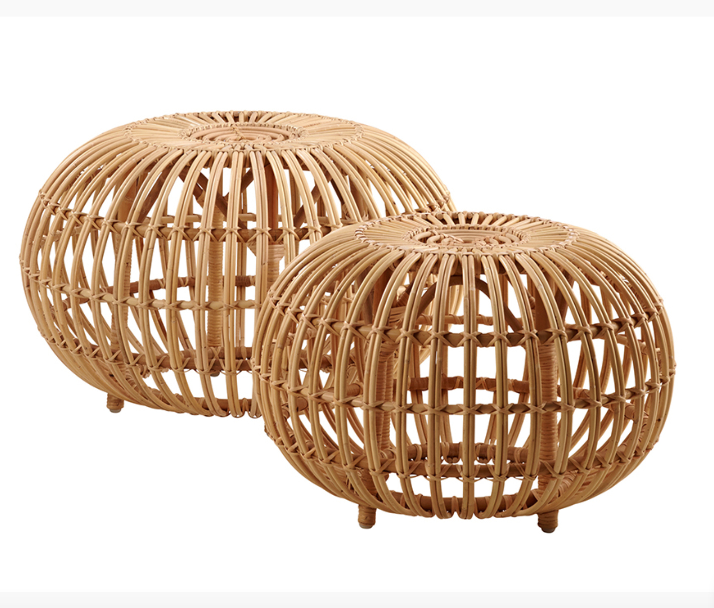 The Franco Albini ottoman in rattan, designed in 1951. Today manufactured by Sika Design, available from Twentytwentyone. £295.