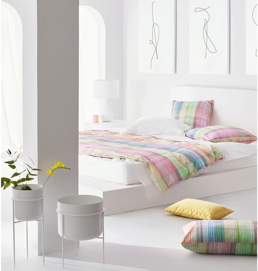 'Multicoloured Stripe Print' duvet cover set from Zara Home. From £69.99.