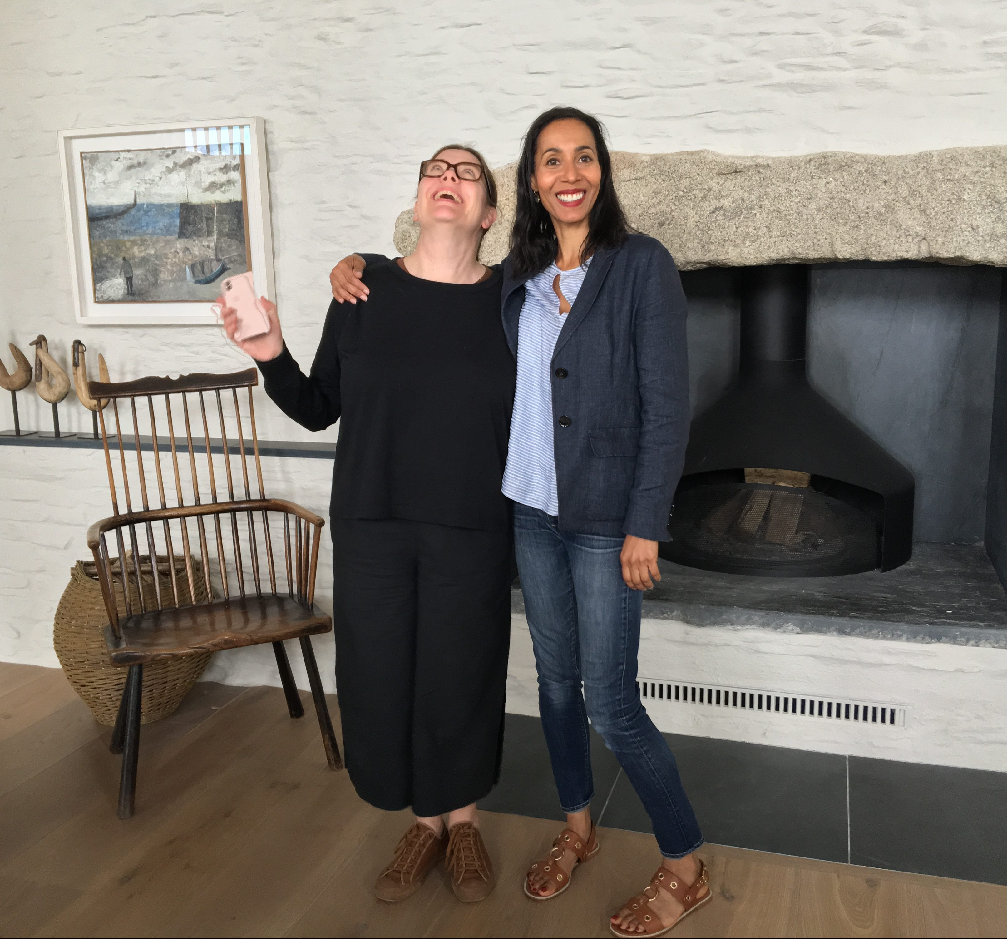 Here I am with Stephanie MacDonald of 6a Architects at 'Coastal House' in Devon, one of the RIBA House of the Year long listed houses I was lucky enough to visit.